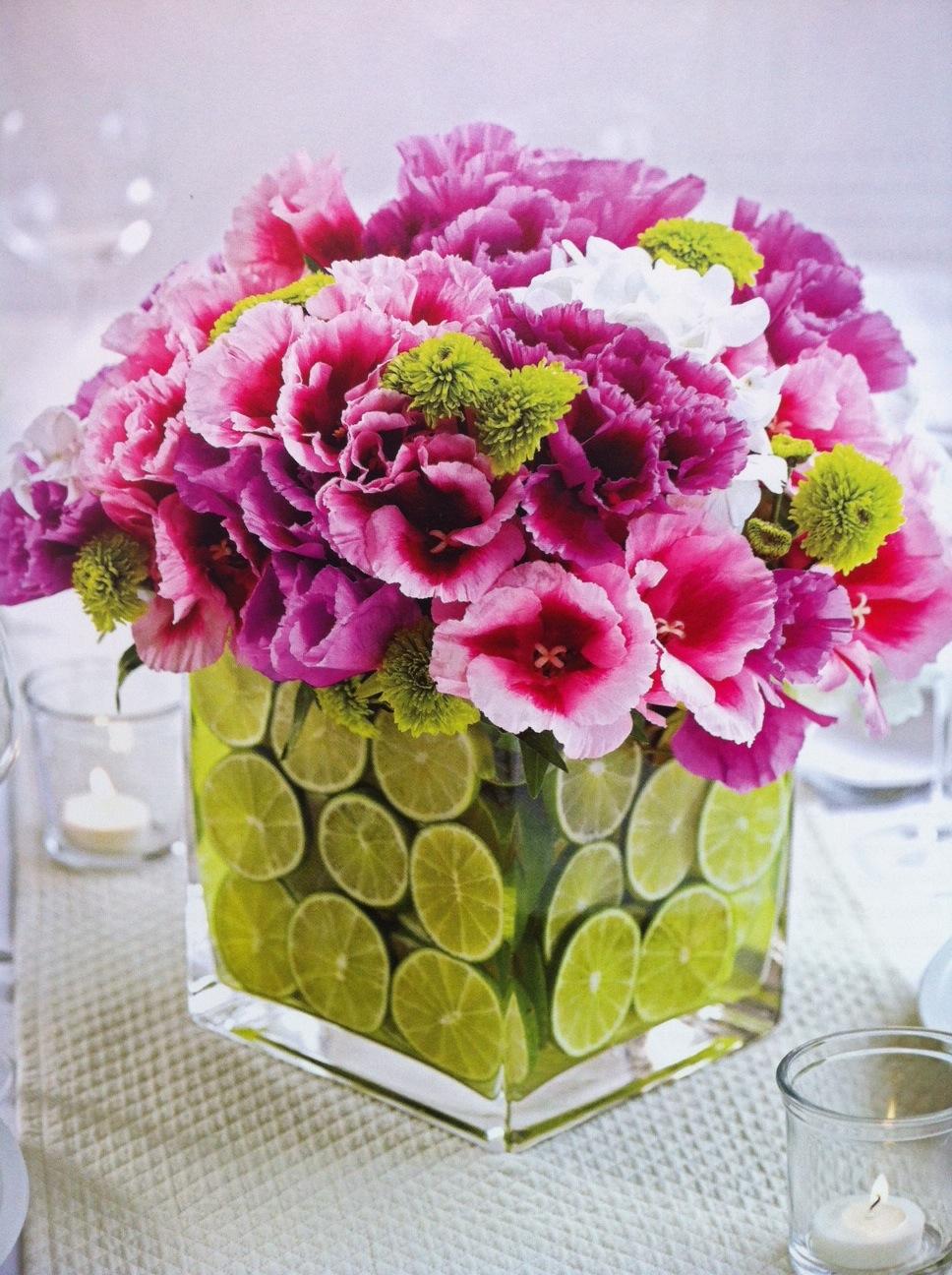 Flower + Citrus Centrepiece | Bridal Solutions Blog